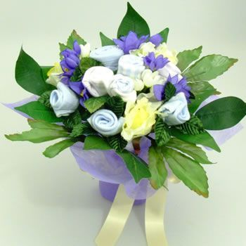 Boy blue baby clothes bouquets bouquet uk grow flowers rock a bye blue baby clothes bouquet medium boy baby gift negle Choice Image