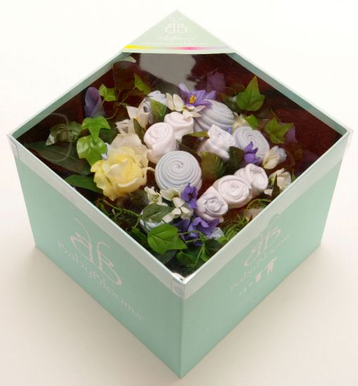 Boy baby clothes bouquets bouquet uk grow flowers rock a bye baby gifts product image negle Choice Image