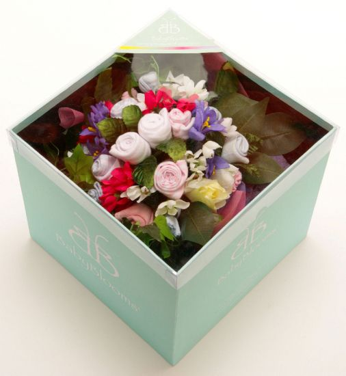 Twins baby clothes bouquets bouquet uk grow flowers rock a bye baby product image negle Choice Image