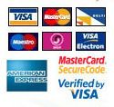 We accept the following cards