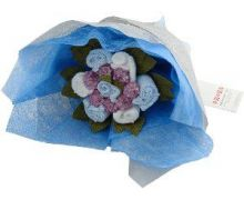Sweet Pea Posy Boy's Baby Clothes Bouquet